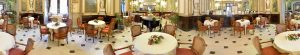 Grand salon of Caffe Gambrinus historic coffee house in Naples, Italy