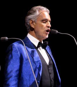 Andrea Bocelli famous Italian opera star