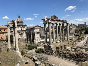 The ancient Roman Forum still contains various monuments and buildings dating back 2000+ years.