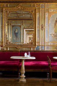 Interior of historical bar Caffe Florian in Venice