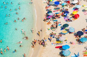 On Ferragosto holiday August 15 most Italians head to the beach.