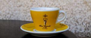 Demitasse espresso cup from Sant'Eustachio il Caffe historic coffee house in Rome