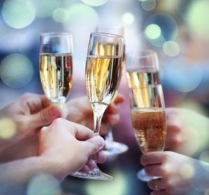 In Italy it is common to drink prosecco sparlking white wine during the holidays with desserts and to make festive toasts.