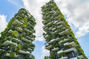 Bosco Verticale (Vertical Forest) Designed by Stefano Boeri, sustainable architecture in Porta Nuova district, in Milan