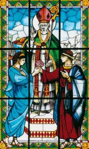 Saint Valetine, a believed to have been a bishop, was said to have secrely married many Christian couples before Christianity was legal.